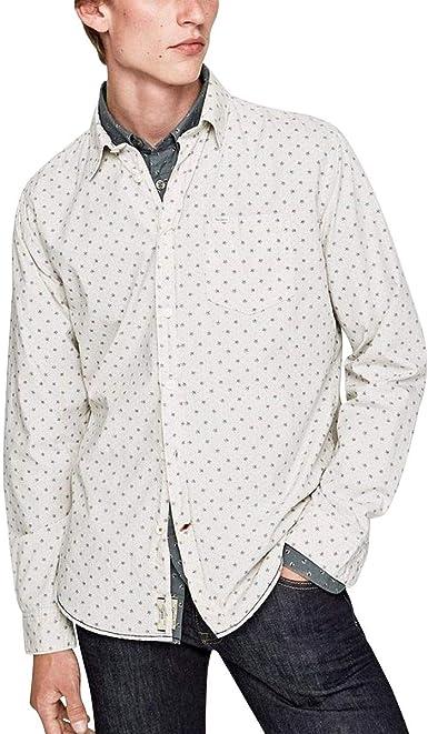 Pepe Jeans - Camisa Kenneth Hombre Color: 907 Light Greystone Talla: Size XXL: Amazon.es: Ropa y accesorios