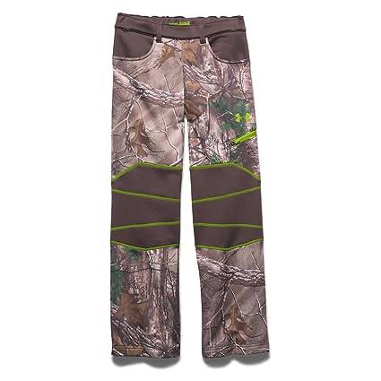 5cef5293f2b58 Under Armour Boy's UA ColdGear Infrared Scent Control Fleece Pants Realtree  Ap Xtra / Velocity Small