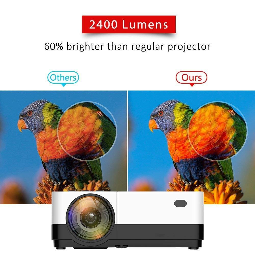 2500 Lumens LCD LED Portable Home Theater