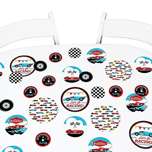 (Big Dot of Happiness Let's Go Racing - Racecar - Baby Shower or Race Car Birthday Party Giant Circle Confetti - Party Decorations - Large Confetti 27)