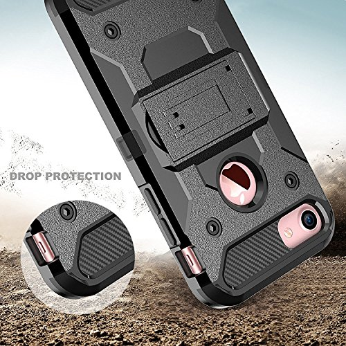 iPhone 7 Hülle, Pasonomi iPhone 6 6S [Heavy Duty] [Shockproof] Stoßfest Armor Case mit Gürtel-Clip und Ständer Schutzhülle für Apple iPhone 7 4,7 Zoll
