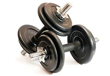Kemket Juego de Mancuernas para Gimnasio o Fitness en casa, para Entrenamiento Muscular, Culturismo