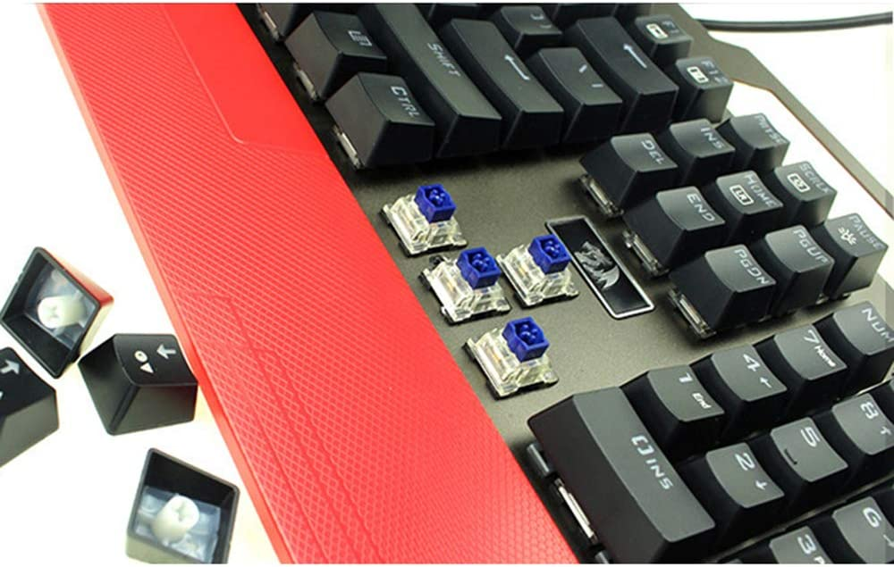 Game Backlight Mechanical Keyboard Support for Home Games Office use Wireless Home Keyboard Aurora axis Waterproof red Light Backlit Metal Keyboard