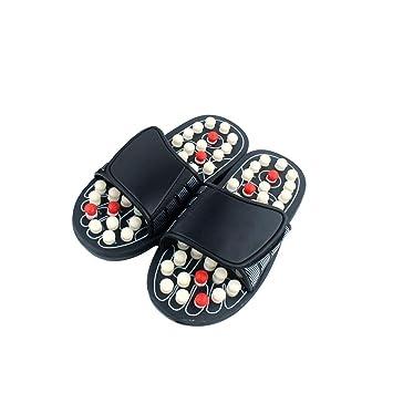 dd25ae4b00b9a Massage Sandals Foot Massager Acupressure Shoes Shiatsu Massage Slippers  Reflexology Sandals with Adjustable Strap for Men and Women