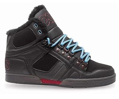 c66a5348fe0 Amazon.com: Osiris NYC 83 Shearling Shoes - Black/Red/Blue - UK 10 ...