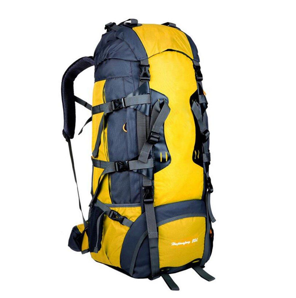 JBHURF Große Kapazität 80L Outdoor-Bergsteigen Tasche professionelles Tragesystem Gelb (Farbe : Gelb)