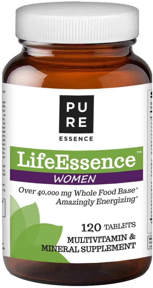 Pure Essence Labs LifeEssence Women s Formula – World s Most Energetic Multiple – The Master Multiple – 120 Tablets
