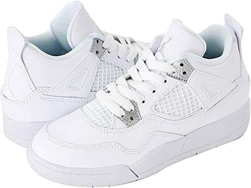 quality design temperament shoes wide range Amazon | [ナイキ] AIR JORDAN 4 RETRO BP WHITE/METALLIC SILVER/PURE ...