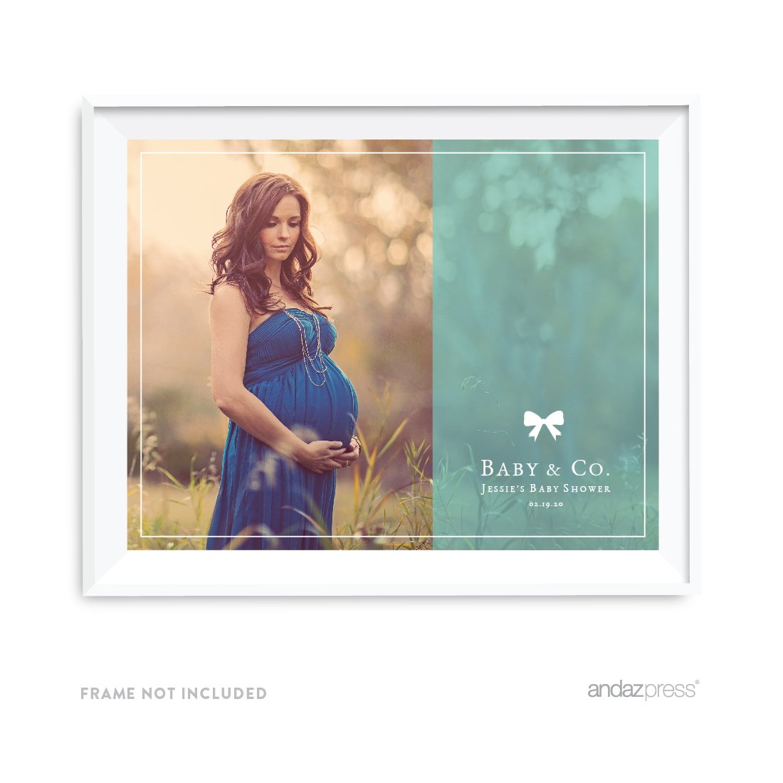 Andaz Press Photo Personalized Baby & Co. Baby Shower Collection, 8.5 x 11-inch Party Sign or Gift Wall Art, 1-Pack, Custom Image