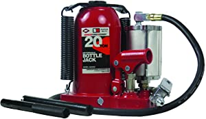 AFF Durable 20 Ton Super Duty Air/Hydraulic Bottle Jack with Welded Tank and Frame, Specially Engineered Air Motor, 5620SD
