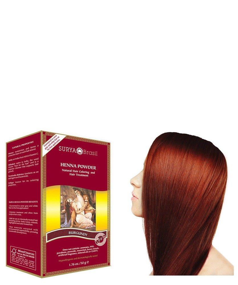 Surya Brasil Products Henna Powder, Burgundy, 1.76 Ounce 67944