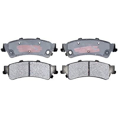 ACDelco 14D792CH Advantage Ceramic Rear Disc Brake Pad Set with Hardware: Automotive