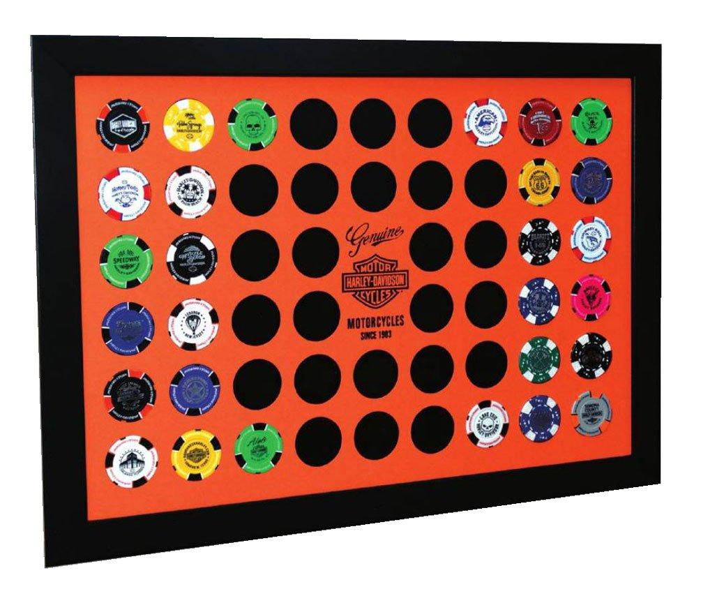 Harley Davidson orange Poker Chip Collector \'s Rahmen, fasst 52 ...