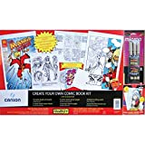 Canson Foundation Series Create Your Own Comic Book Kit: 10 Art Boards, 2 Cover, 2 Sketch, 4 Layout, 20 Trading cards, and 3 Sakura Pens, 11 17 Inch