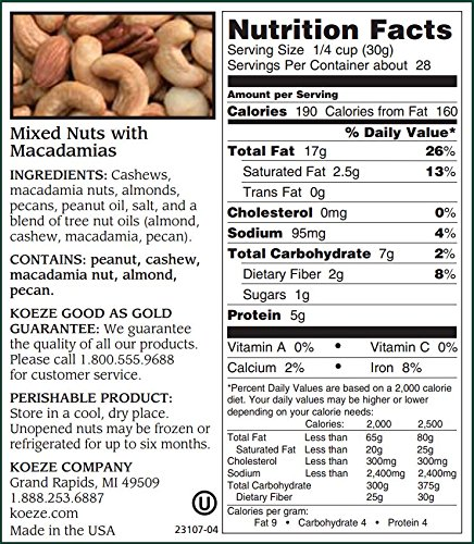 Mixed Nuts with Macadamias 30 oz. Decanter