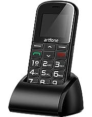 Artfone CS182 Teléfono Móvil con Teclas Grandes para Mayores con SOS botón.