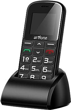 Artfone CS182 Teléfono Móvil con Teclas Grandes para Mayores con SOS botón.: Amazon.es: Electrónica