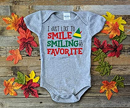Christmas shirt Smiling is my favorite Smiling/'s my favorite Elf shirt Christmas bodysuit Elf bodysuit