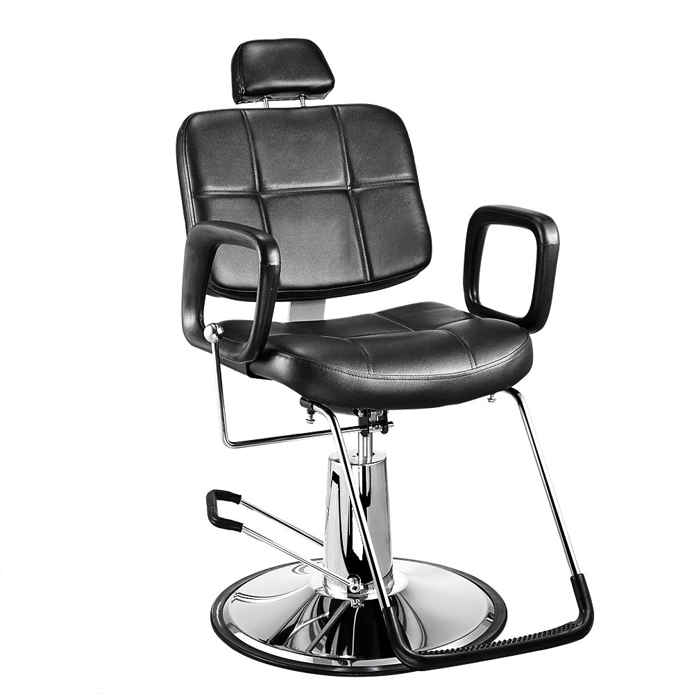 Classic Hair Salon Barber Chair Beauty Hairdressing Shaving Haircut Styling Equipment Hydraulic Lift Reclining Swivel Sofatbed