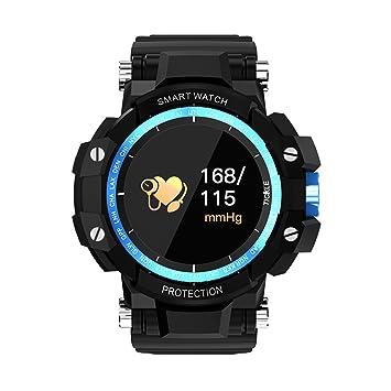 GW68 Reloj Inteligente Para Hombres NRF52832 Chip Tiempo De Espera Largo / Monitor De Frecuencia Cardíaca Smartwatch Cámara Remota Reloj Anti-Perdido,Blue: ...