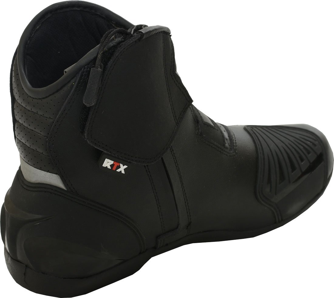 11.5 UK Black RTX Dyno Tex Waterproof Short Motorbike Motorcycle CE Armoured Leather Boots
