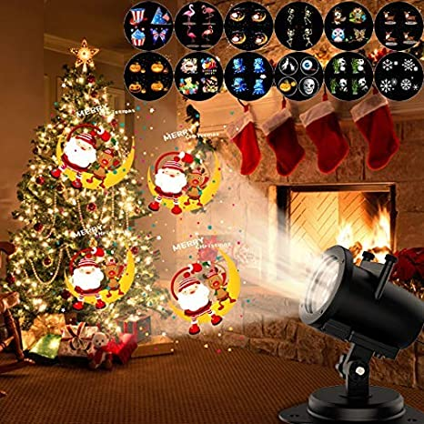 Amazon Com Holiday Party Projector Lights Led Snowfall Landscape