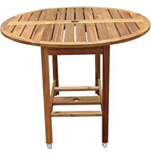 merry garden acacia folding dining table - Folding Dining Table And Chairs Set