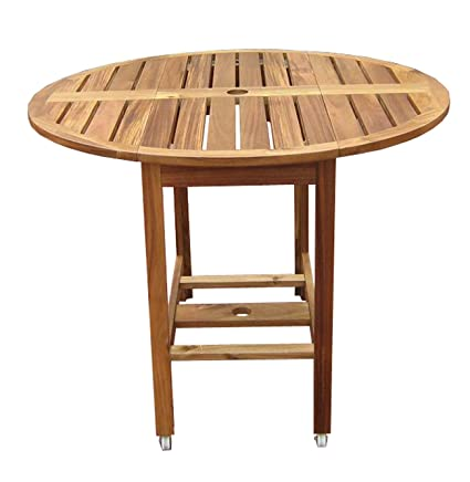 Amazoncom Merry Garden Acacia Folding Dining Table Folding