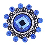 Wholesale Vocheng DIY Button 4 Colors Crystal 18mm Snap Charm Vn-101920 Pack of 20pcs (Blue)