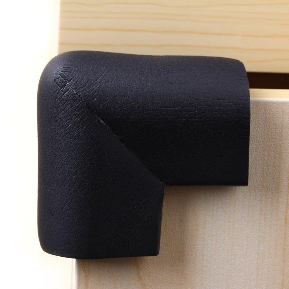 Vaorwne 4pcs Esquina de Parachoques Protectores para Borde Table Seguridad de Bebes Negro