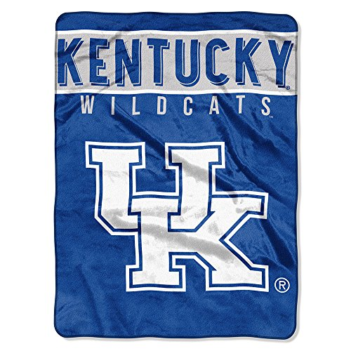 (The Northwest Company Officially Licensed NCAA Kentucky Wildcats Basic Plush Raschel Throw Blanket, 60