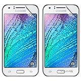 Vulkan Ultra Clear Hd Screen Guard Protector For Samsung Galaxy J1 (Double Quantity)