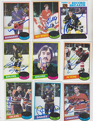 1980-81 TOPPS SIGNED CARD RICK MARTIN BUFFALO SABRES KINGS FRENCH CONNECTION 51