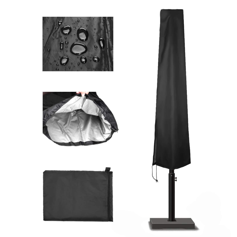 YuanCheng Accesorios de Deportes al Aire Libre Funda Protectora de Sombrilla Impermeable Funda para Parasol con Cremallera Protectora para Parasol de Jard/ín Patio Terraza Intemperie