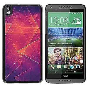 Paccase / SLIM PC / Aliminium Casa Carcasa Funda Case Cover para - Orange Hot Abstract Polygon - HTC DESIRE 816