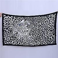 Verano toalla de playa toallas de playa de marca Rectángulo Unisex Negro Leopard Impreso natación toalla de baño (180100 cm