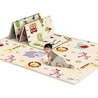 K9CK Alfombra Infantil Impermeable - Alfombras de Juegos para Bebes - Plegable Manta Juegos Bebe Suelo - 180 x 100 x 1cm