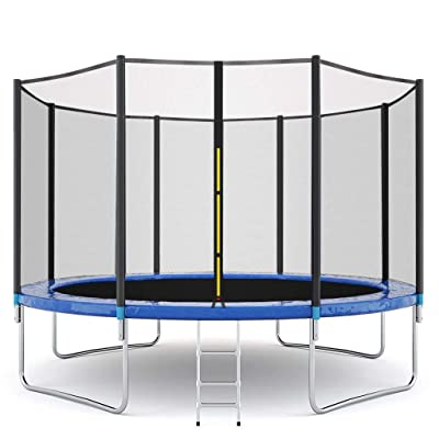 12FT Trampoline with Safety Enclosure Net, Ladder Trampoline for Kids, Jumping Mat and Spring Cover Padding Outdoor Trampolin 12-Foot Trampoline Combo Bounce Jump Trampoline with Safety Enclosure Net an : Sports & Outdoors