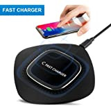 Wireless Charger, Wireless Charging Pad for iPhone (Black)