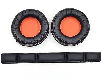 Par de almohadillas de repuesto para auriculares inalámbricos de diadema Siberia 840, 800 Dolby 7.1 de SteelSeries, marca YDYBZB: Amazon.es: Electrónica
