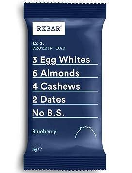 RXBAR, barra de proteínas, arándanos, sin gluten, paquete de 12, fabricado en el Reino Unido