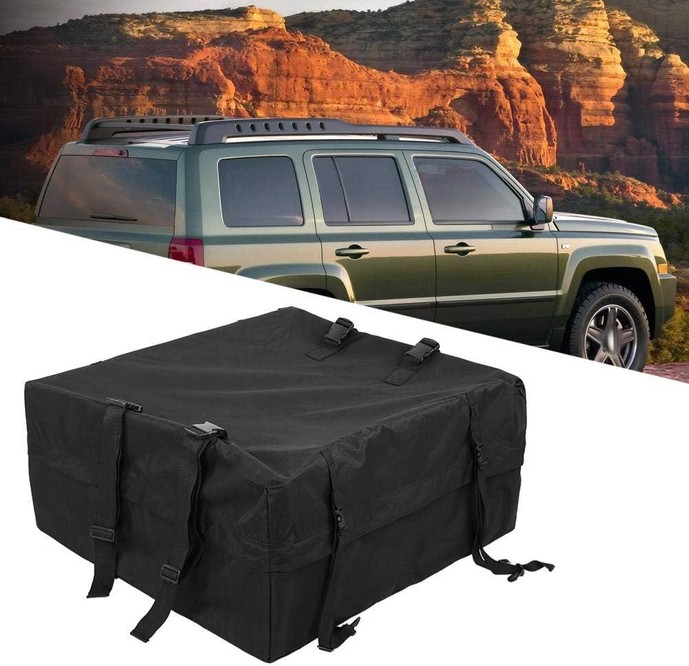 Sac de Toit /à Sangle Sac de Toit Souple Coffre de Toit en Tissu Transporteur de Toit pour Voiture SUV Camion Voyage