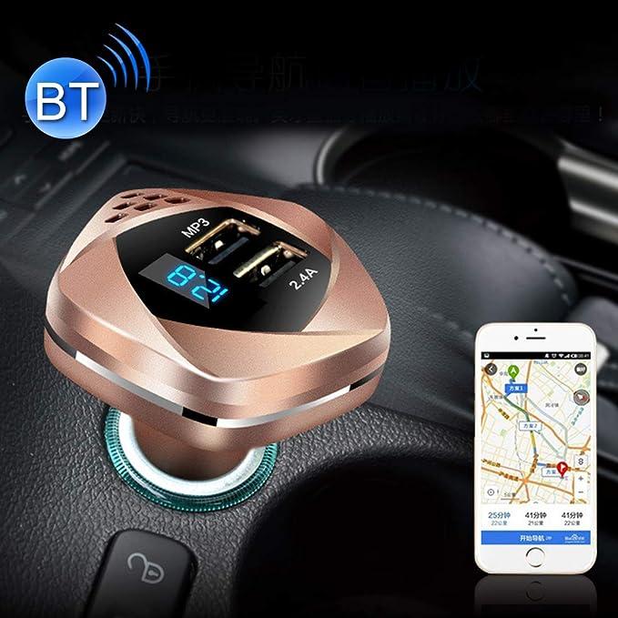 Cargador de cochecargador de coche Adaptador USB HSC HSC-103 12-24 del cargador del coche dual con Monitoreo de voltaje inal/ámbrico Bluetooth MP3 2.4A del cigarrillo del coche de salida m/ás ligero ca