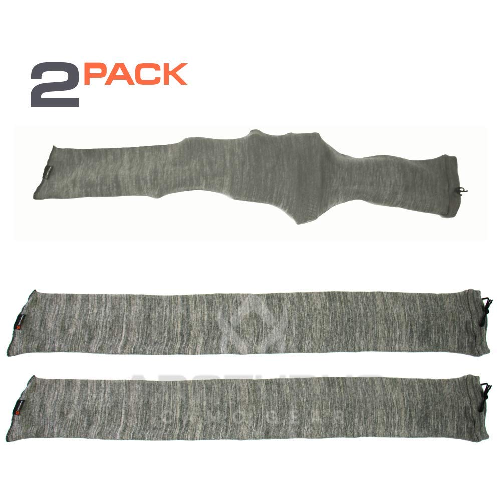 Arcturus 47'' Silicone-Treated Gun Socks - Extra-Wide Rifle Socks Fit Scopes, Pistol Grips and Tactical Accessories (Gray 2-Pack) by Arcturus