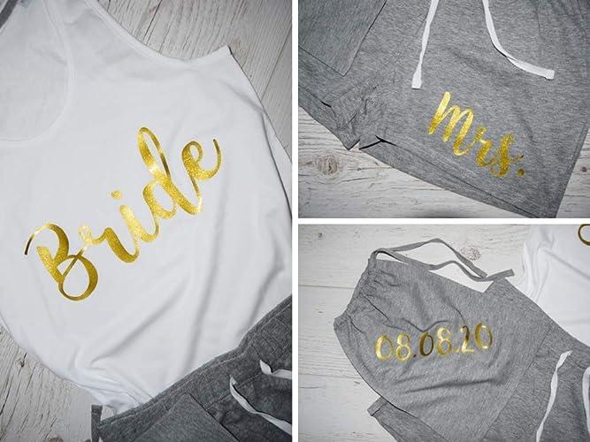 2fc20a9204 Amazon.com: Bridesmaid Pajama Short Set, Personalized Pajamas Set, Custom  Wedding Nightwear, Short Pajama Set In Bag, Bridesmaid Proposal Gifts:  Handmade