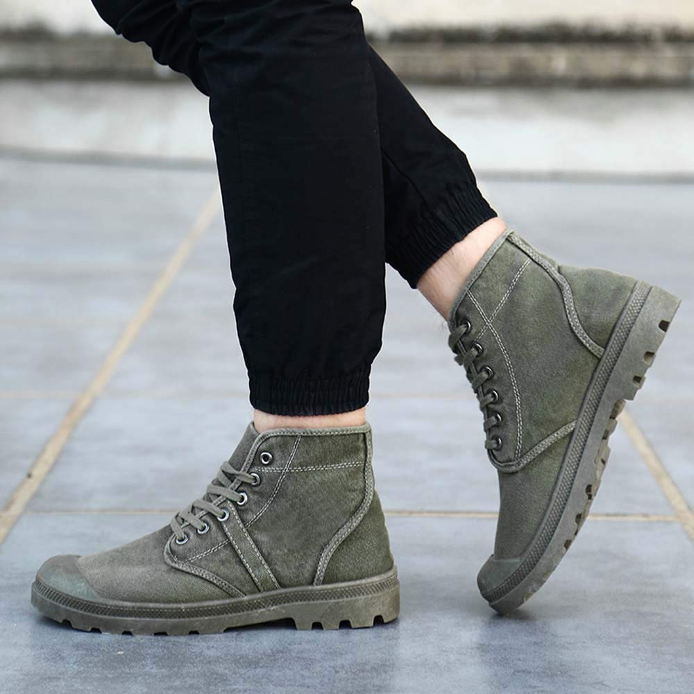 Men Running Sneakers KKGG Sport Breathable Lightweight Fashion Casual Shoes High Top Ankle Boots Solid Lace Up Non-Slip Thick Shoe Comfortable Jogging Footwear Gym Athletic Walking Hiking