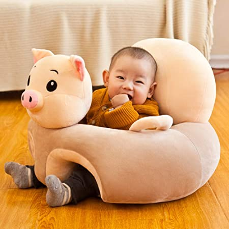 vce2tg Baby Sofa Cover Childrens Plush Learning Seat Kids Position Correction Early Childhood Education Assistant Frog