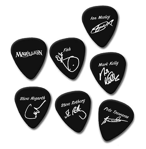 Marillion peces Ian marca Steve Pete firma impresión Plectrum Púa De Guitarra púas