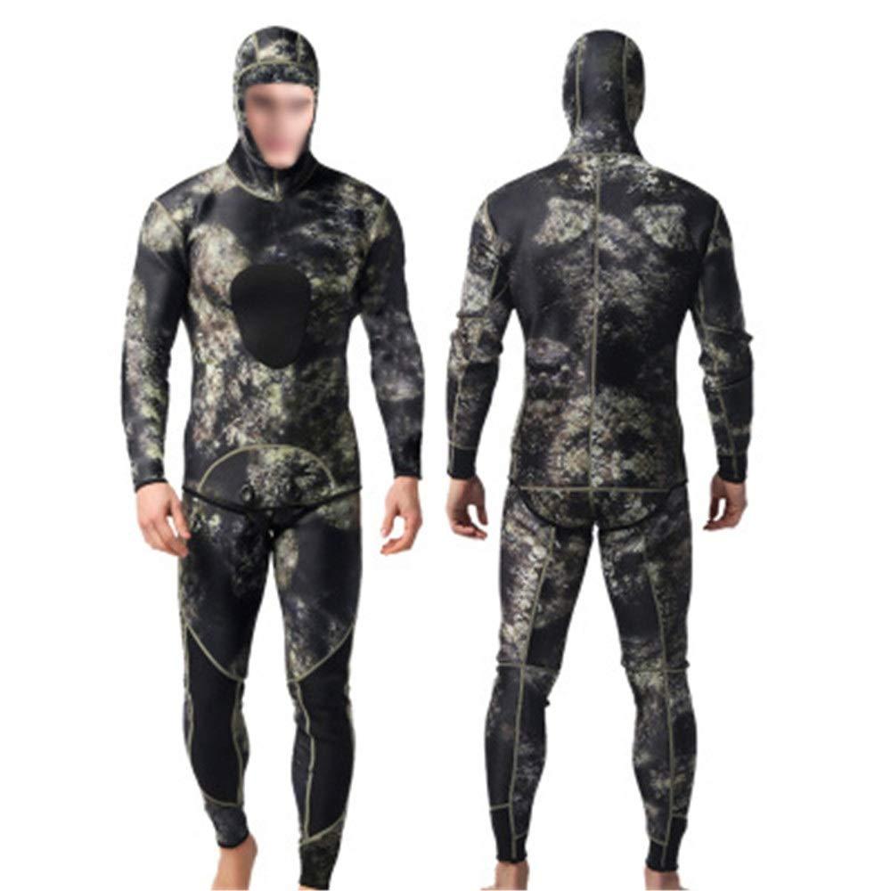 メンズフルウェットスーツ彫刻フィットフラットシーム水泳ウェットスーツ調節可能なネック閉鎖簡単グライドジップウェットスーツ用サーフィン (色 : マルチカラー, サイズ : S)