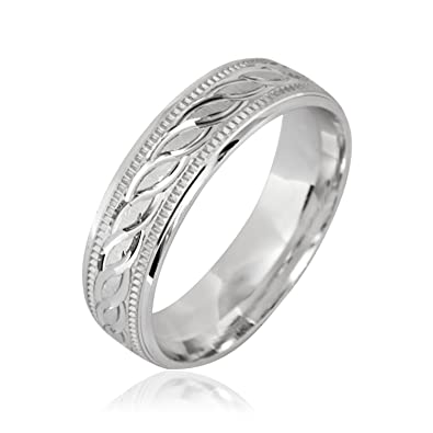 Sterling Silver Wedding Bands.Allmygold Jewelers Fancy Design 6mm 925 Sterling Silver Wedding Band Ring Men S Women S